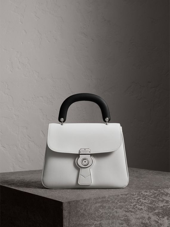 The Medium DK88 Top Handle Bag in Chalk White