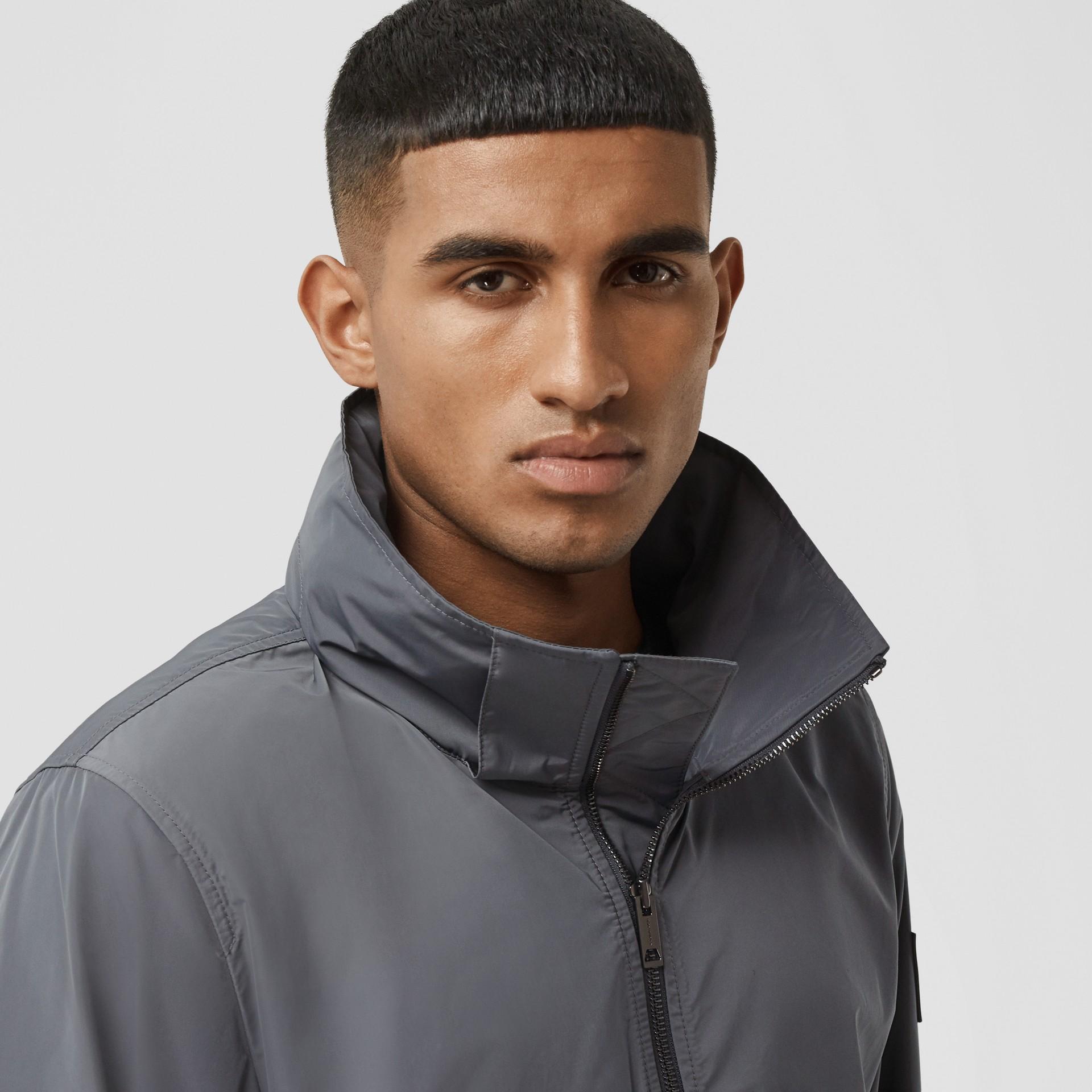 Packaway Hood Shape-memory Taffeta Jacket in Steel Grey - Men | Burberry United States - gallery image 1