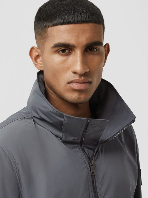 Packaway Hood Shape-memory Taffeta Jacket in Steel Grey - Men | Burberry Australia - cell image 1