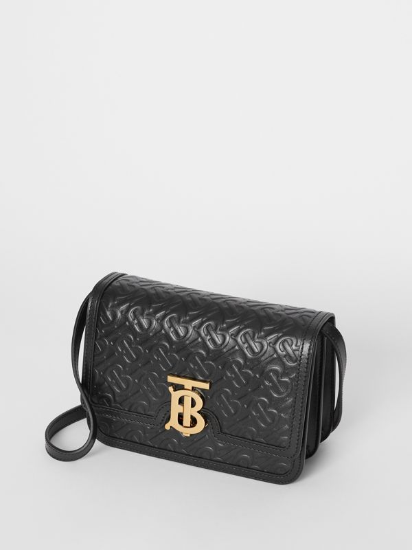 Small Monogram Leather TB Bag in Black - Women | Burberry - cell image 3