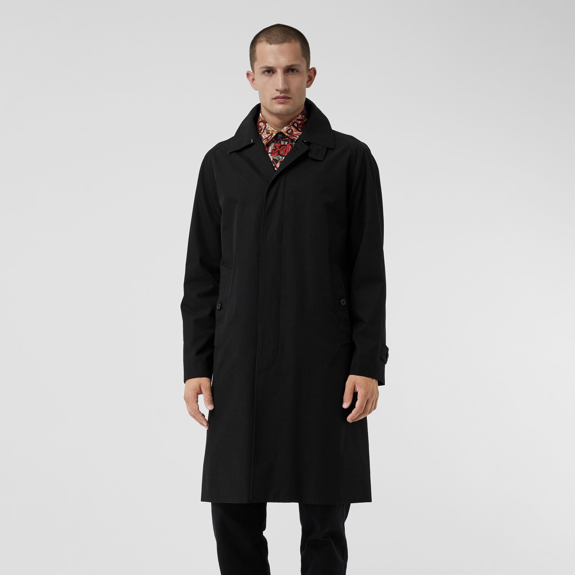 Tropical Gabardine Car Coat in Black - Men | Burberry - gallery image 6