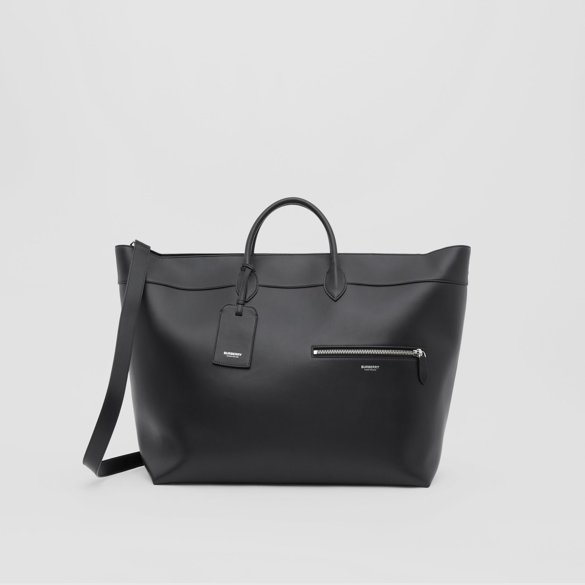 Leather Holdall in Black - Men | Burberry Australia - gallery image 0