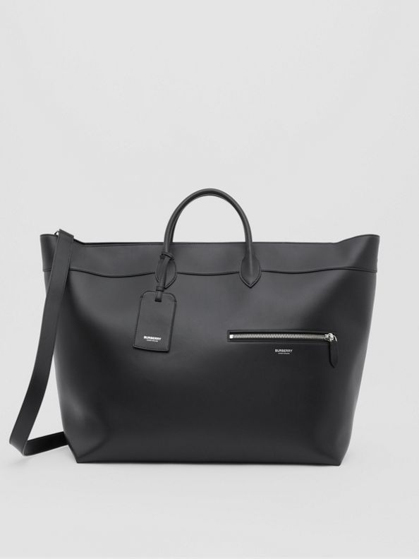 Leather Holdall in Black