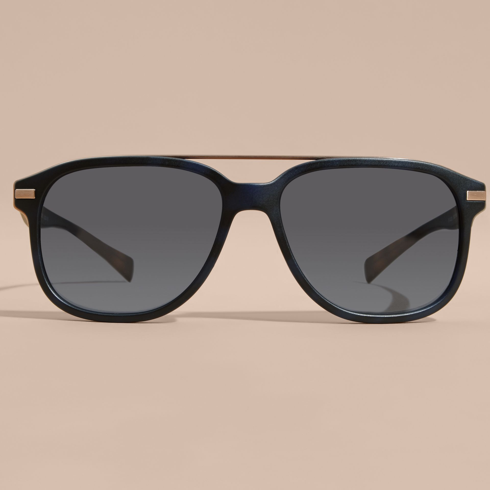 Square Frame Sunglasses Deep Blue - gallery image 3