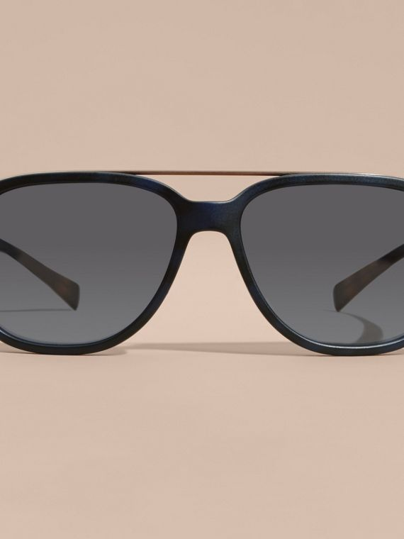 Square Frame Sunglasses Deep Blue - cell image 2