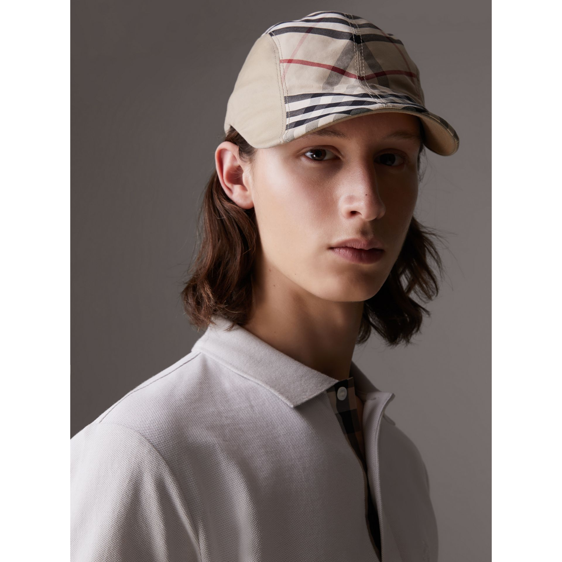 Gosha x Burberry Duckbill Cap in Honey | Burberry United Kingdom - gallery image 3