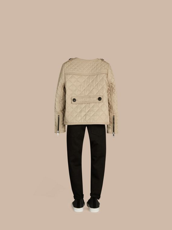 Mink Collarless Diamond Quilted Jacket Mink - cell image 3