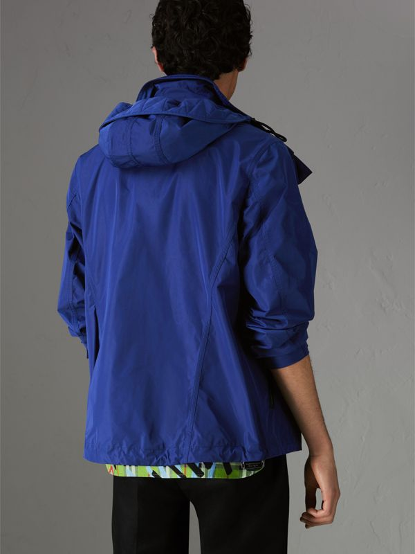 Packaway Hood Showerproof Jacket in Jet Blue - Men | Burberry United Kingdom - cell image 2