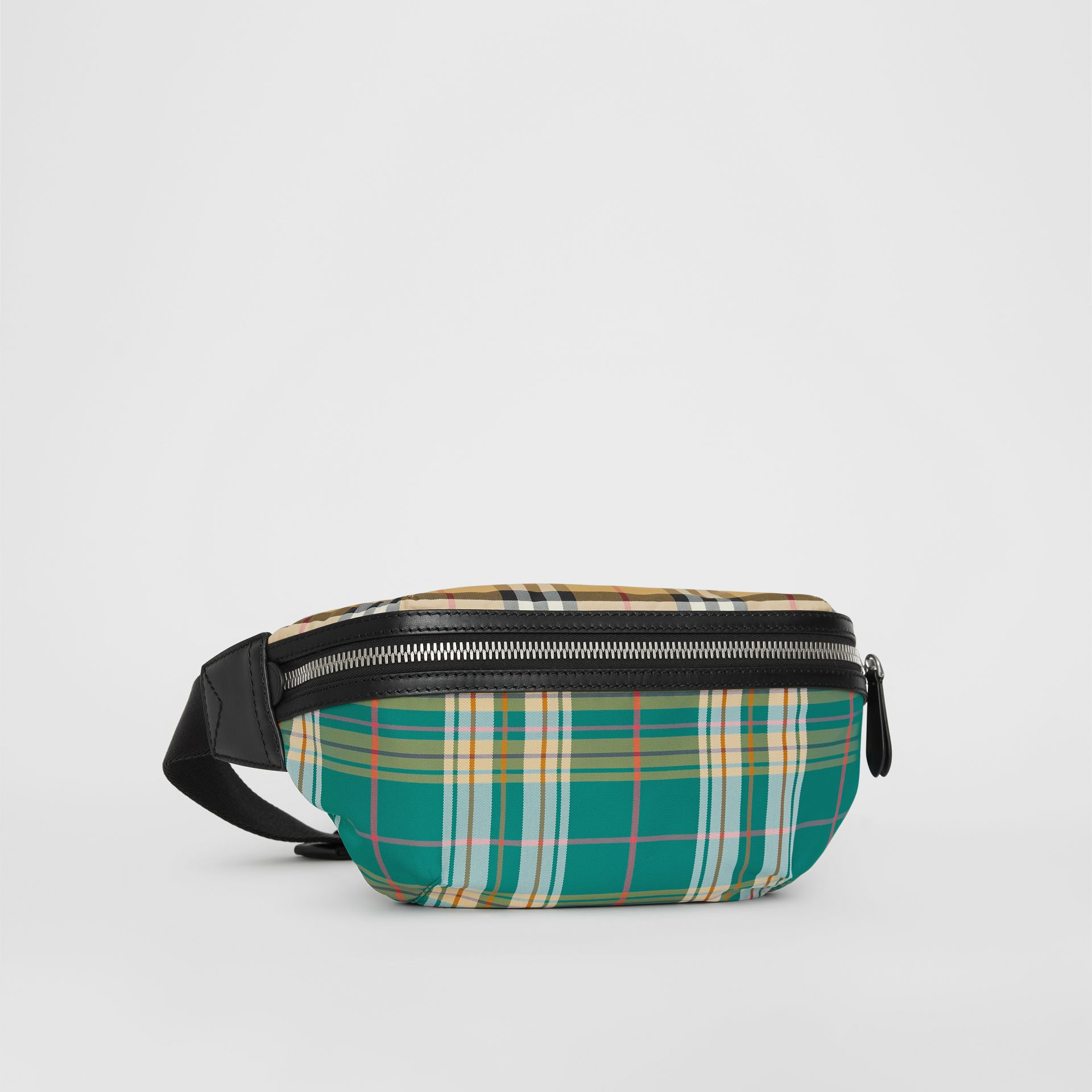 Medium Vintage Check and Tartan Bum Bag in Pine Green | Burberry Australia - gallery image 4