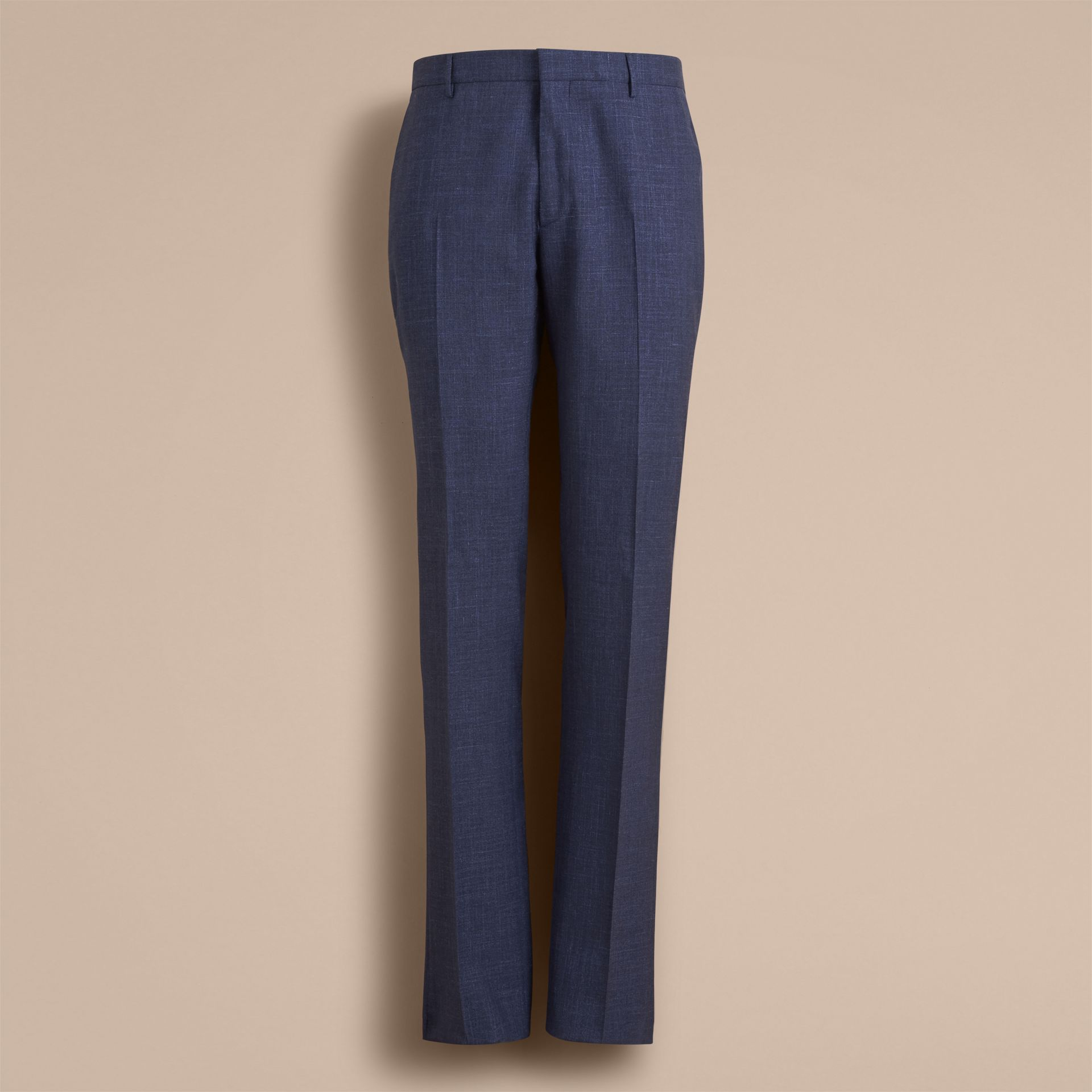 Modern Fit Wool Silk Blend Trousers - Men | Burberry Australia - gallery image 4