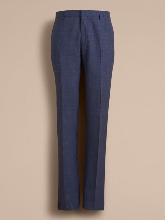 Modern Fit Wool Silk Blend Trousers - Men | Burberry Australia - cell image 3