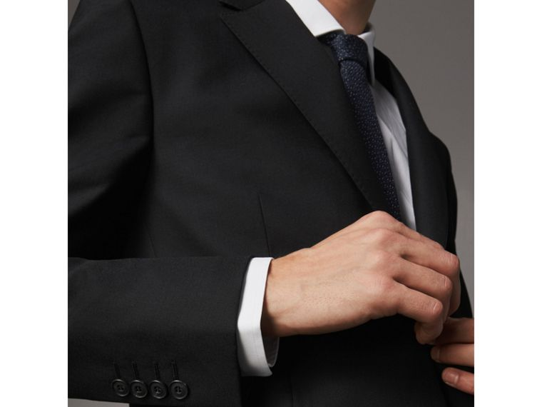 Classic Fit Wool Part-canvas Suit in Black - Men | Burberry - cell image 1