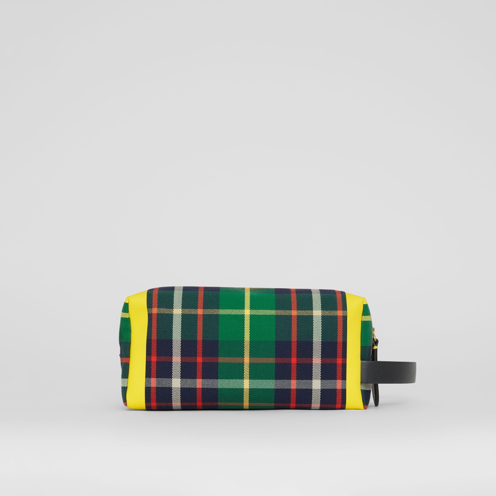 Tartan Cotton Pouch in Forest Green | Burberry - gallery image 8