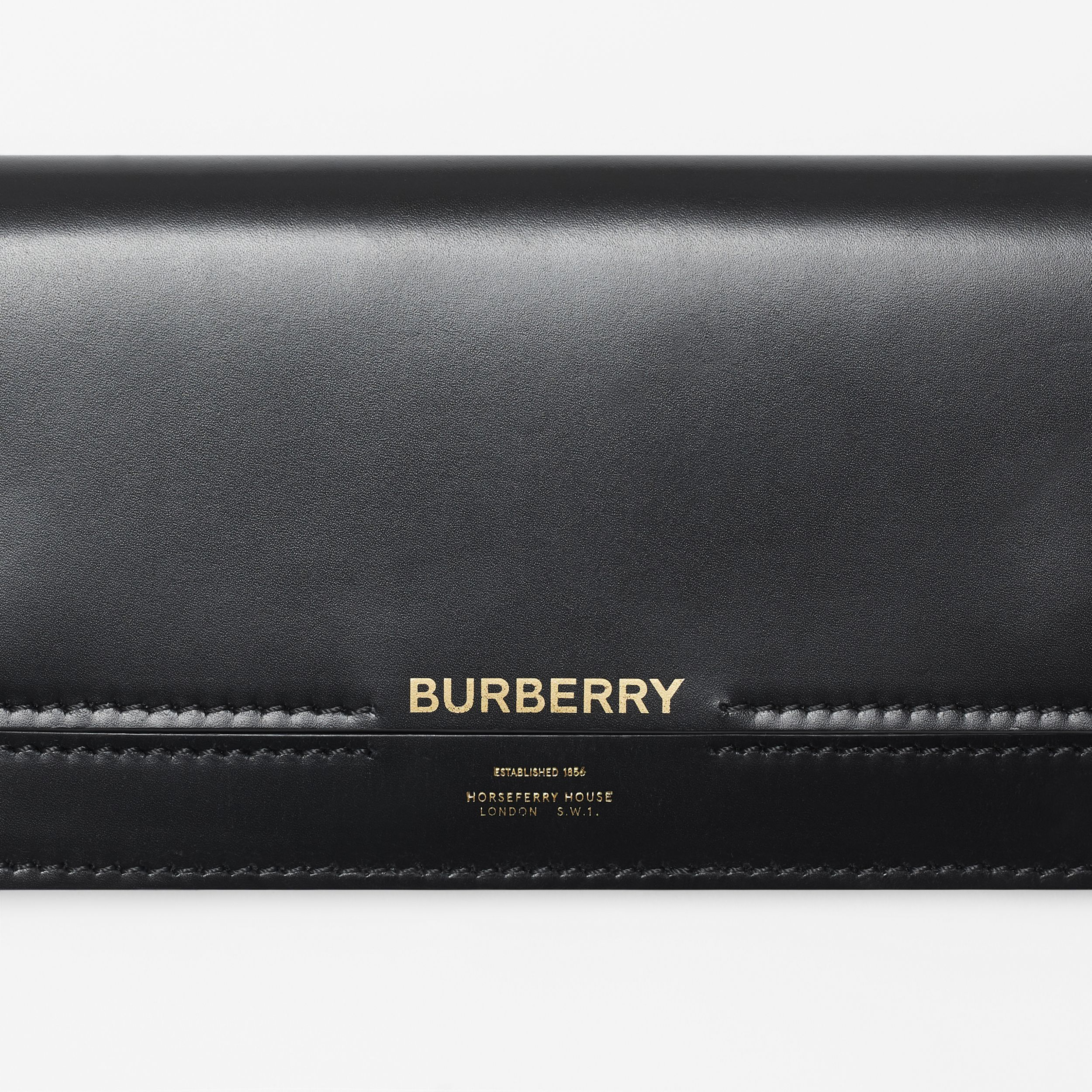 Horseferry Embossed Leather Continental Wallet in Black - Women | Burberry - 2