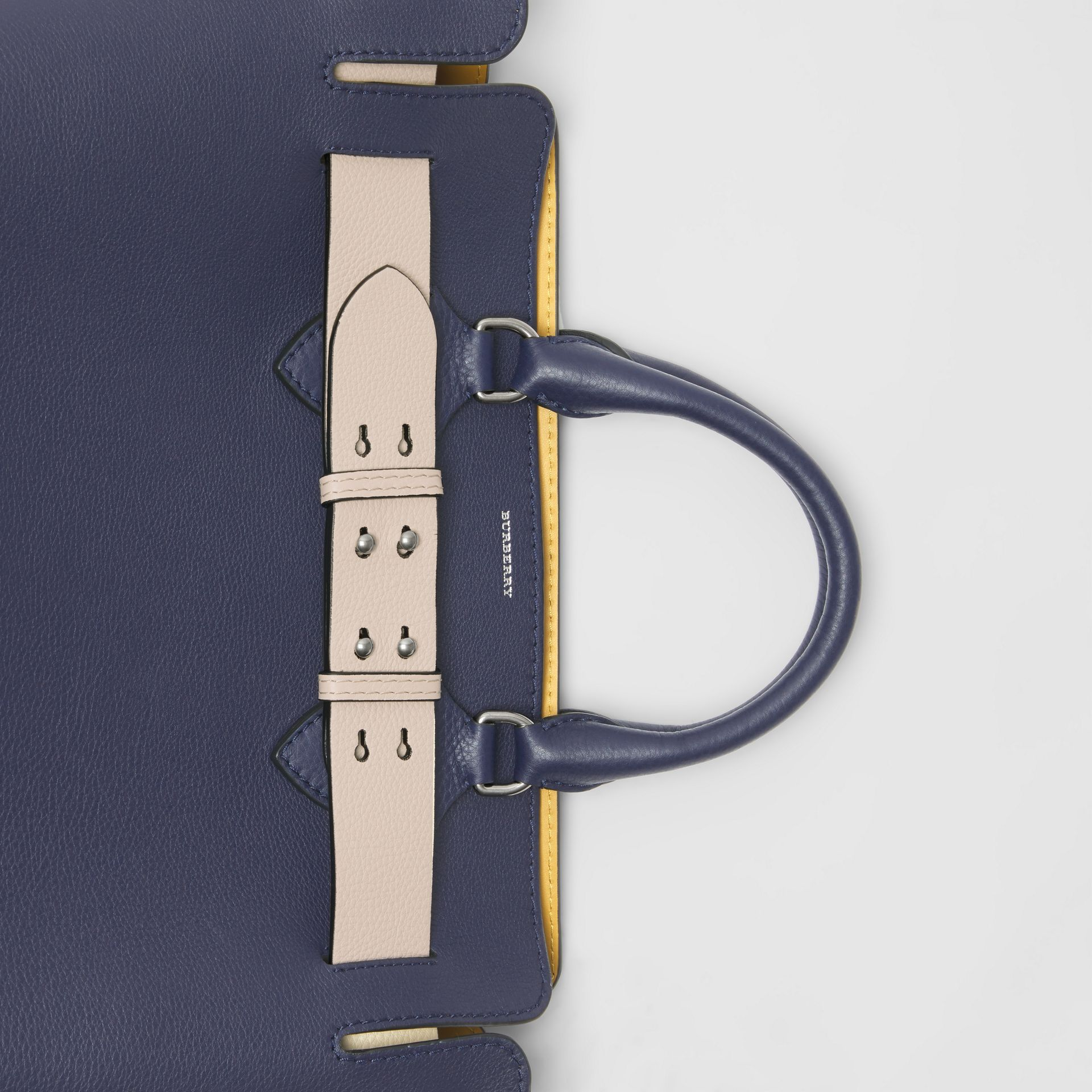 The Medium Leather Belt Bag in Regency Blue - Women | Burberry United Kingdom - gallery image 1