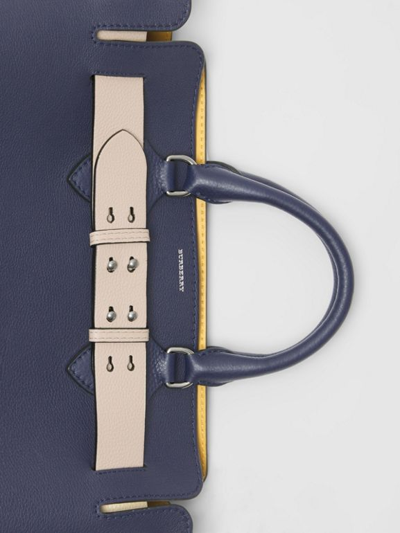 The Medium Leather Belt Bag in Regency Blue - Women | Burberry United Kingdom - cell image 1