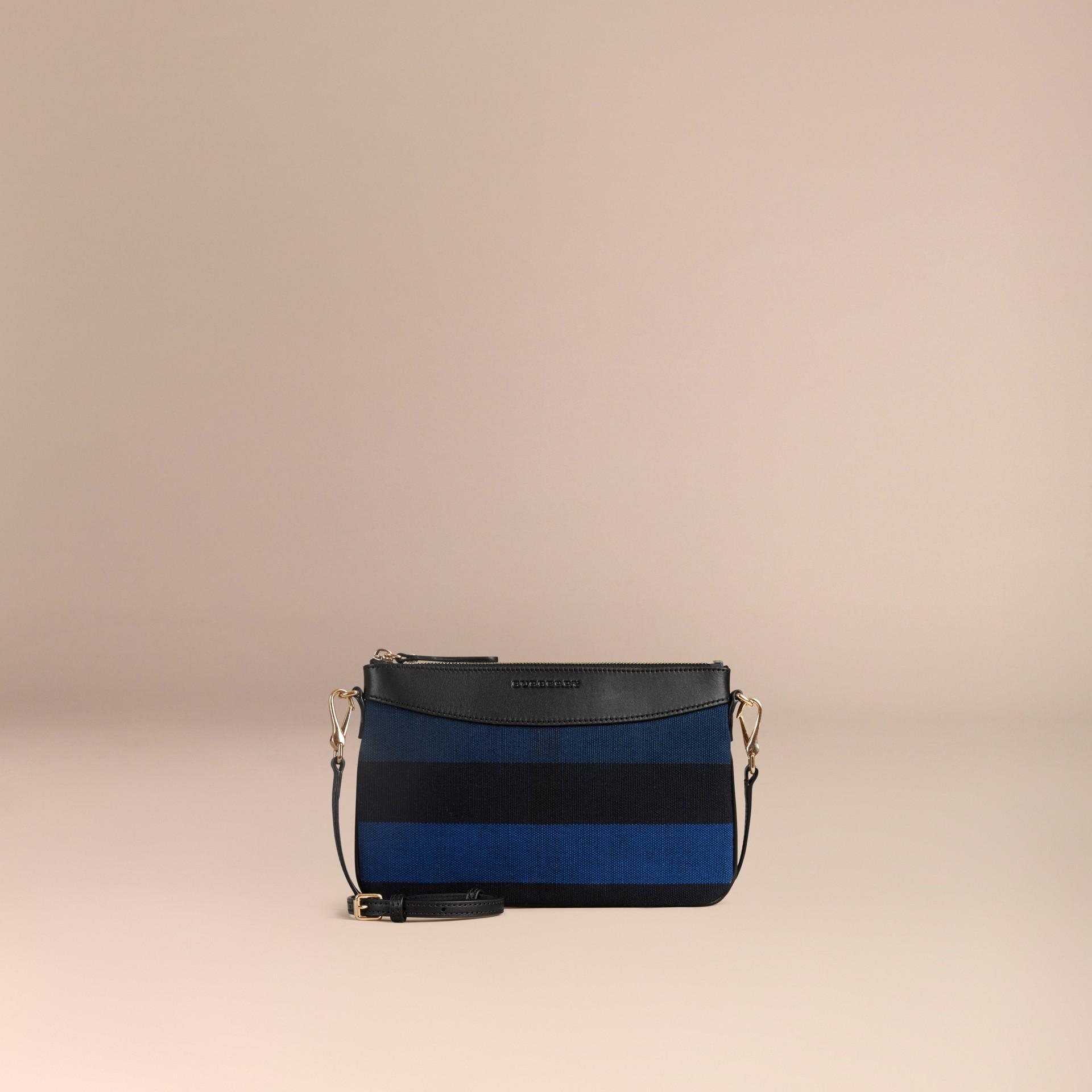 Bleu ultramarine Clutch Canvas check Bleu Ultramarine - photo de la galerie 7