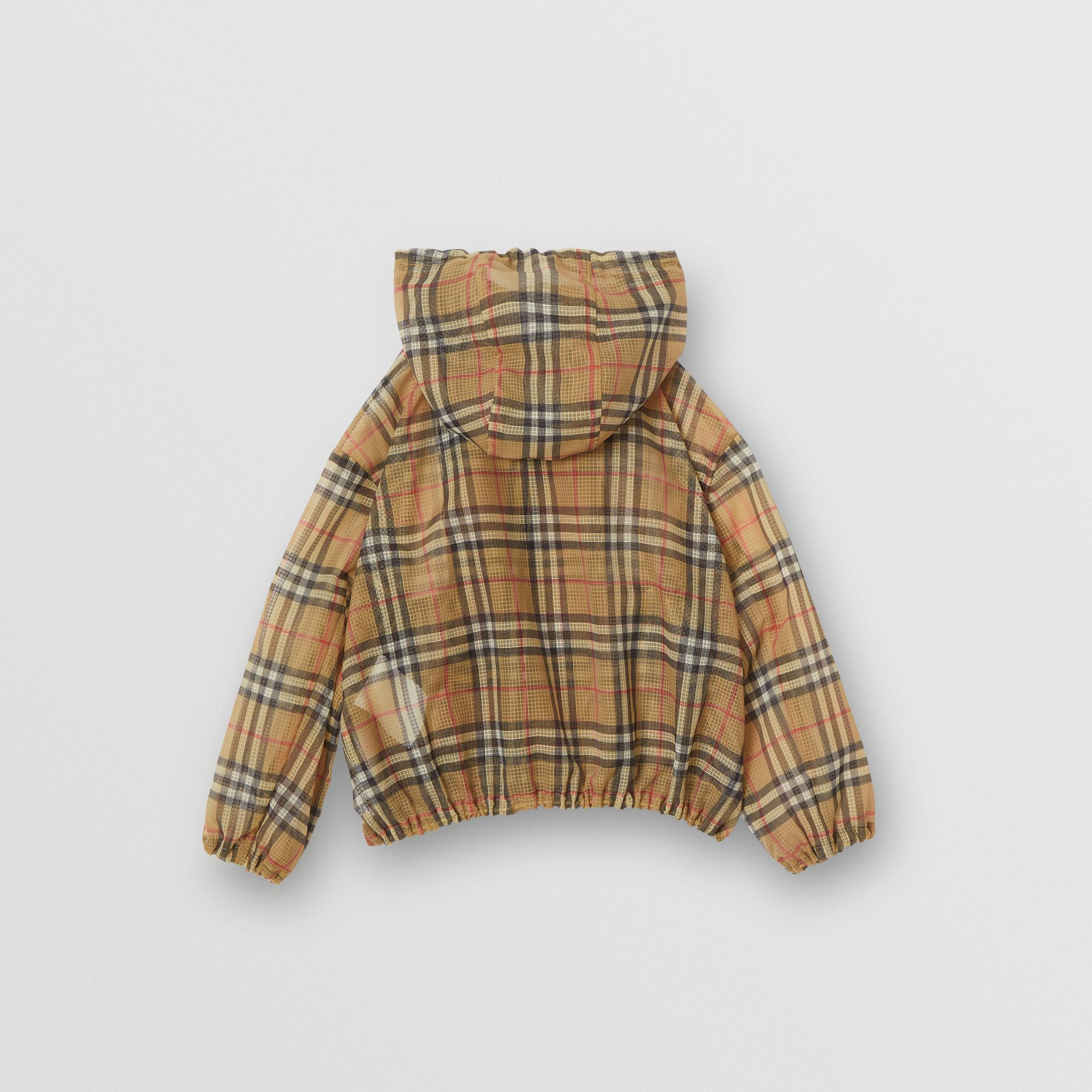 Lightweight Vintage Check Hooded Jacket in Antique Yellow | Burberry - gallery image 4