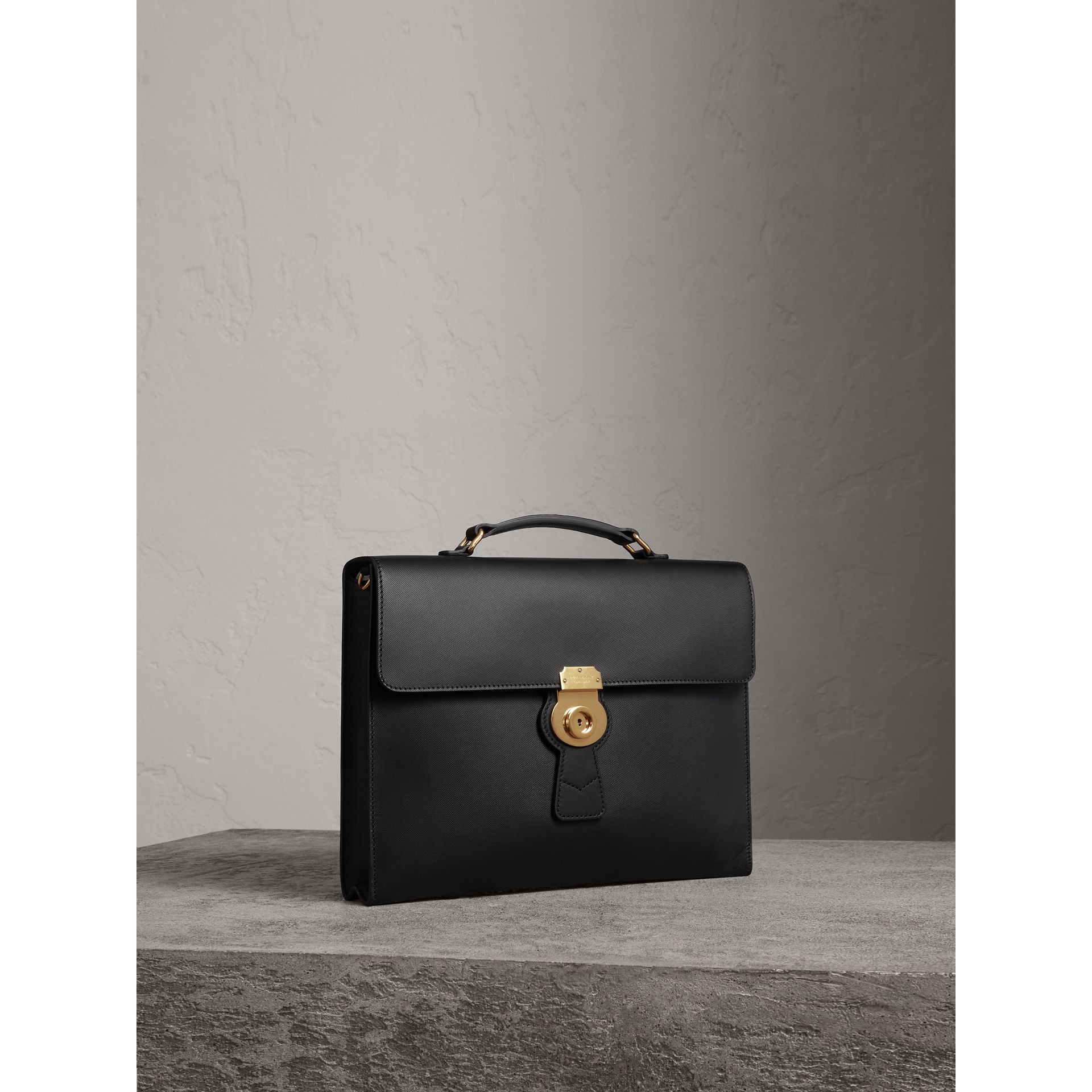 The Large DK88 Document Case in Black/black - Men | Burberry - gallery image 4