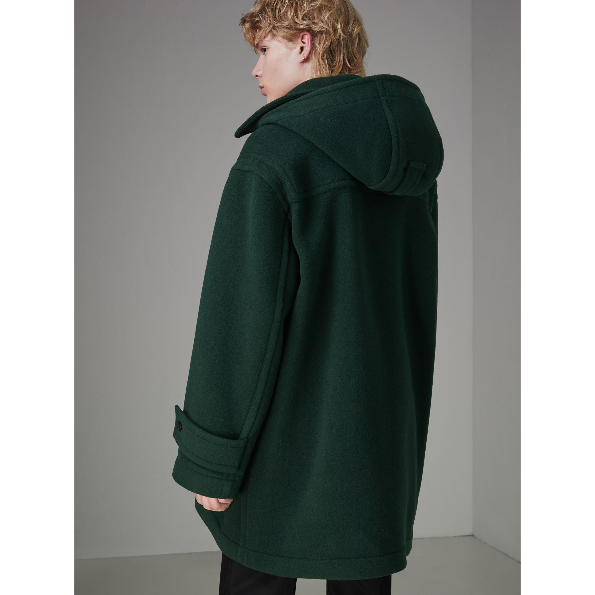 Gosha x Burberry Oversized Duffle Coat in Dark Forest Green | Burberry - gallery image 7