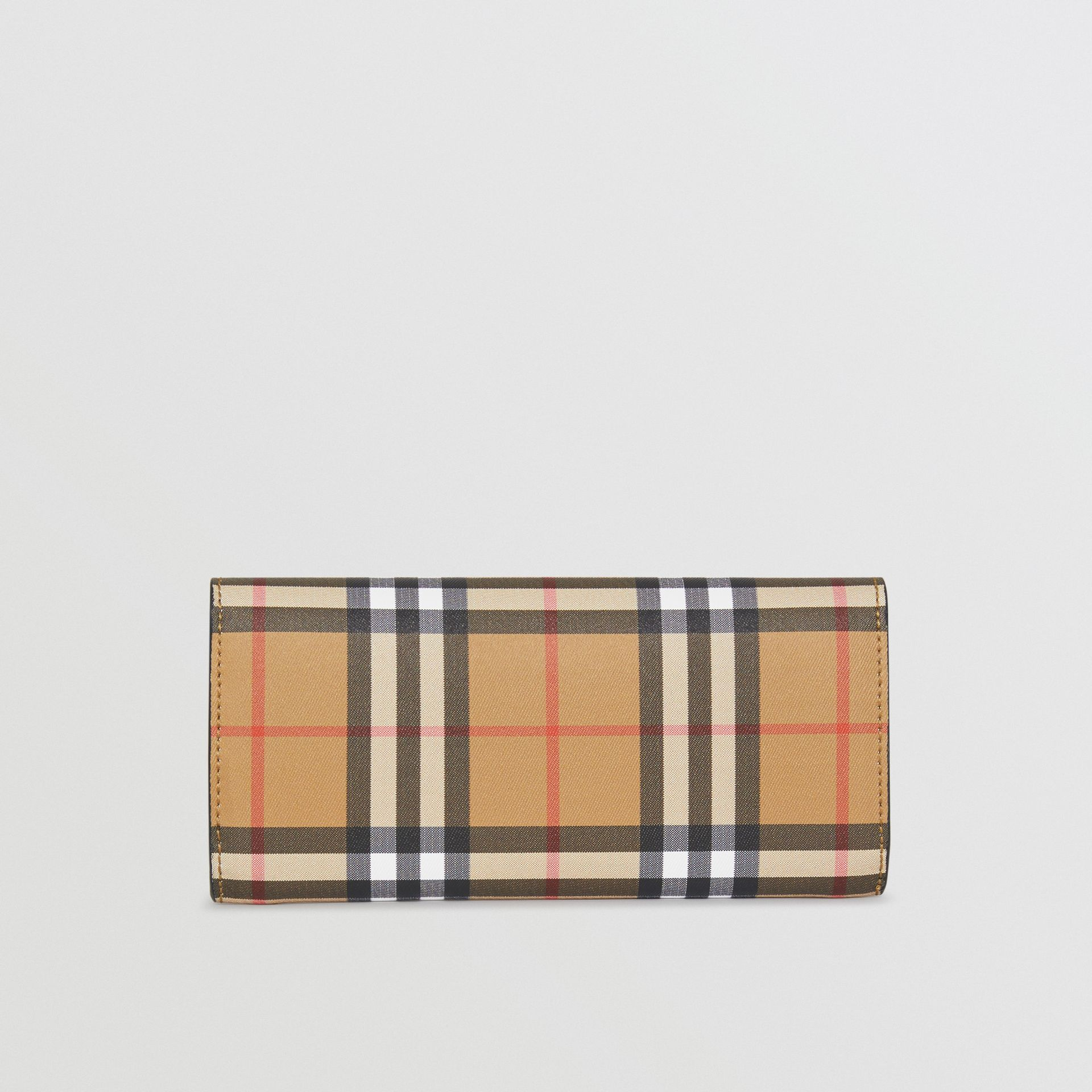 Vintage Check and Leather Continental Wallet in Black - Women | Burberry Australia - gallery image 4