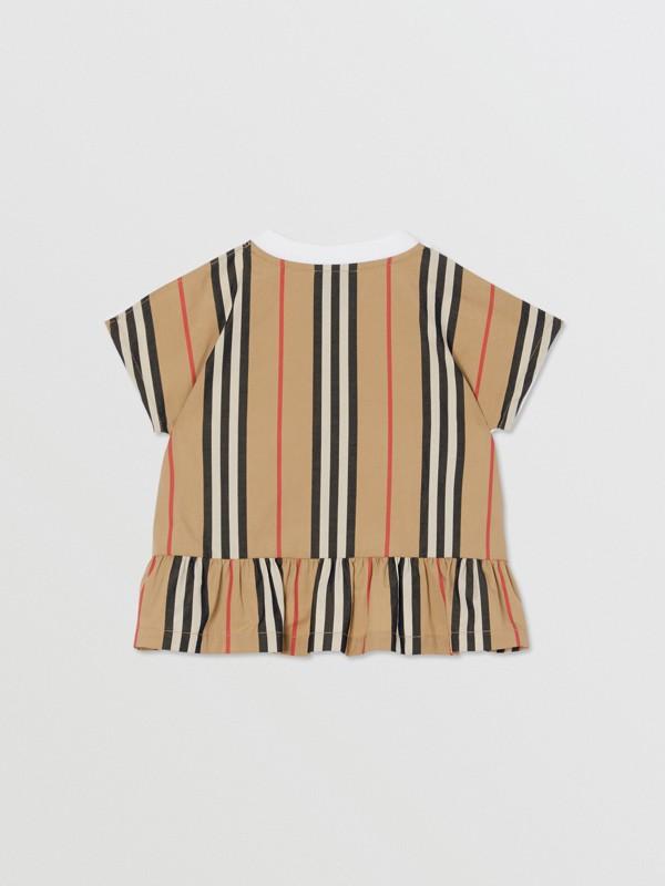 アイコンストライプパネル コットンTシャツ (ホワイト/アーカイブベージュ) - チルドレンズ | バーバリー - cell image 3