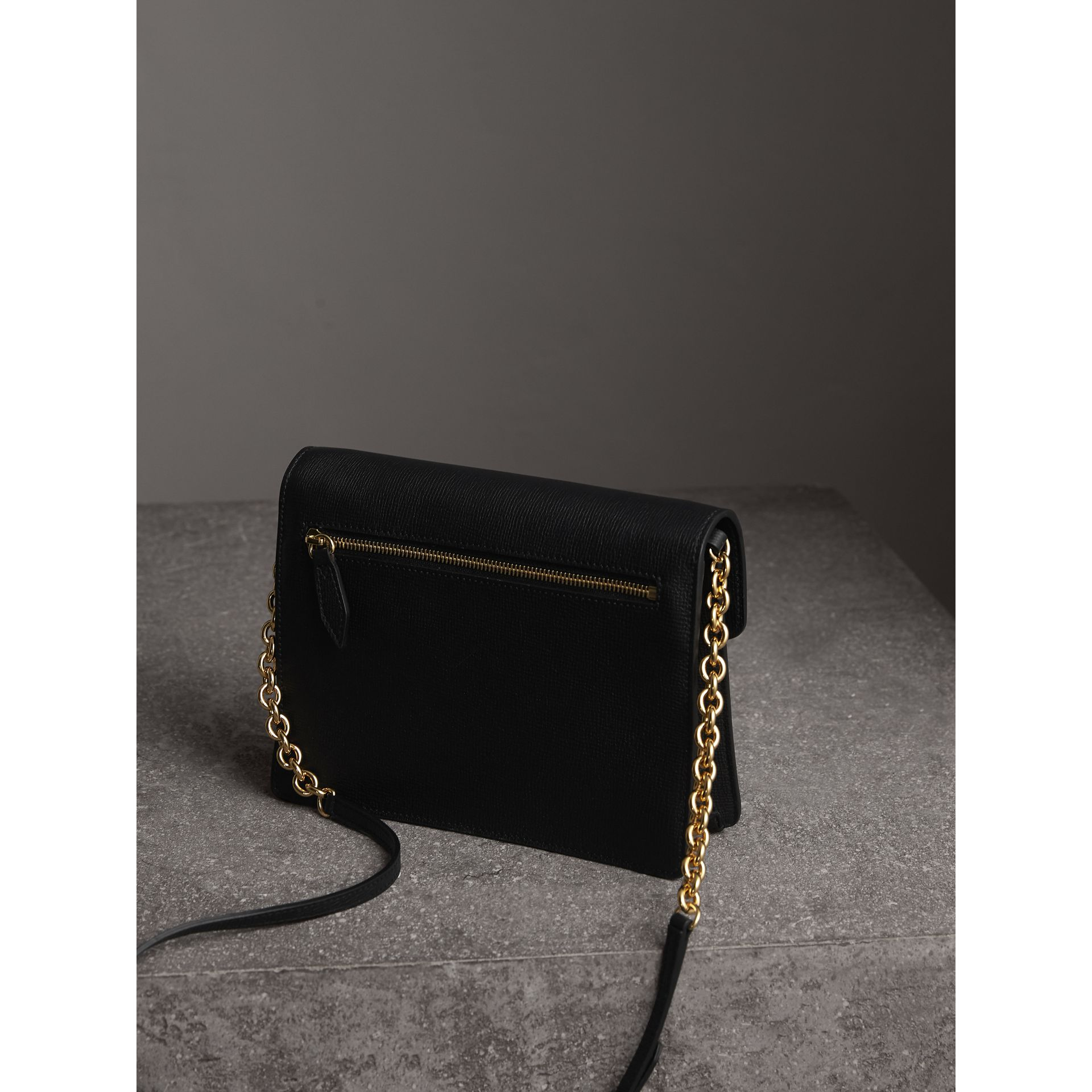 Small Leather Crossbody Bag in Black - Women | Burberry - gallery image 3