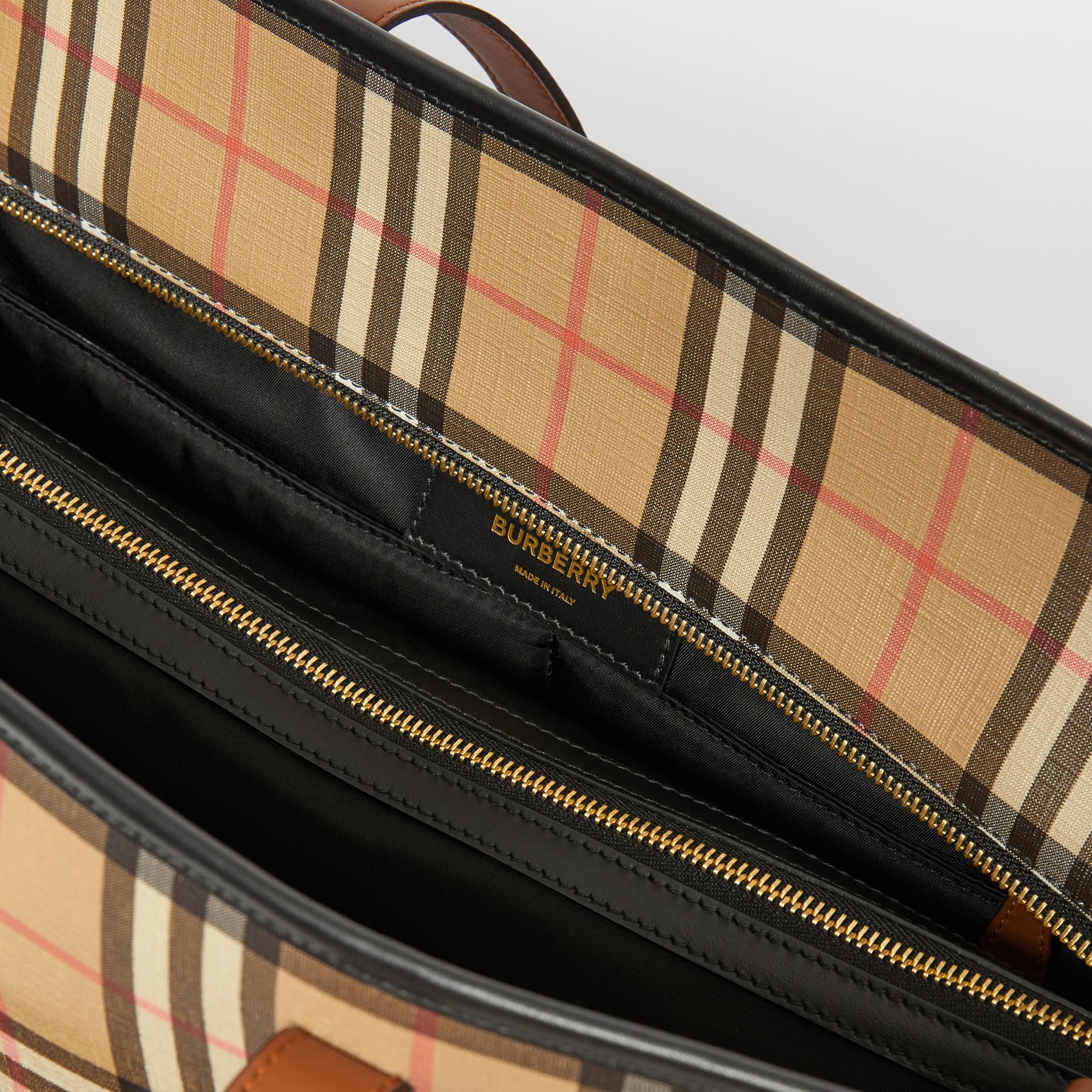 Vintage Check E-canvas Baby Changing Bag in Archive Beige - Children | Burberry - gallery image 3