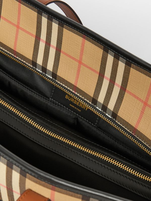 Vintage Check E-canvas Baby Changing Bag in Archive Beige - Children | Burberry - cell image 3