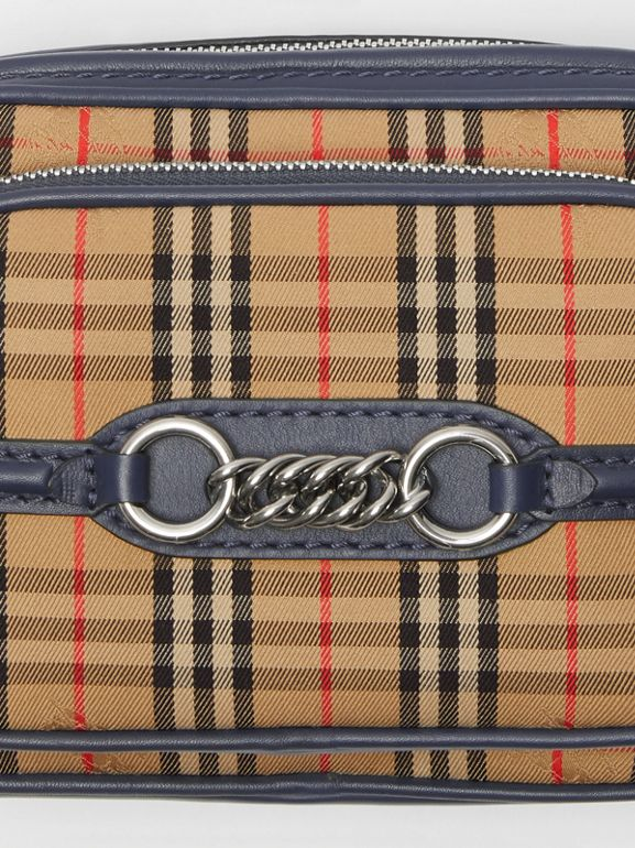 The 1983 Check Link Camera Bag in Ink Blue - Women | Burberry United Kingdom - cell image 1