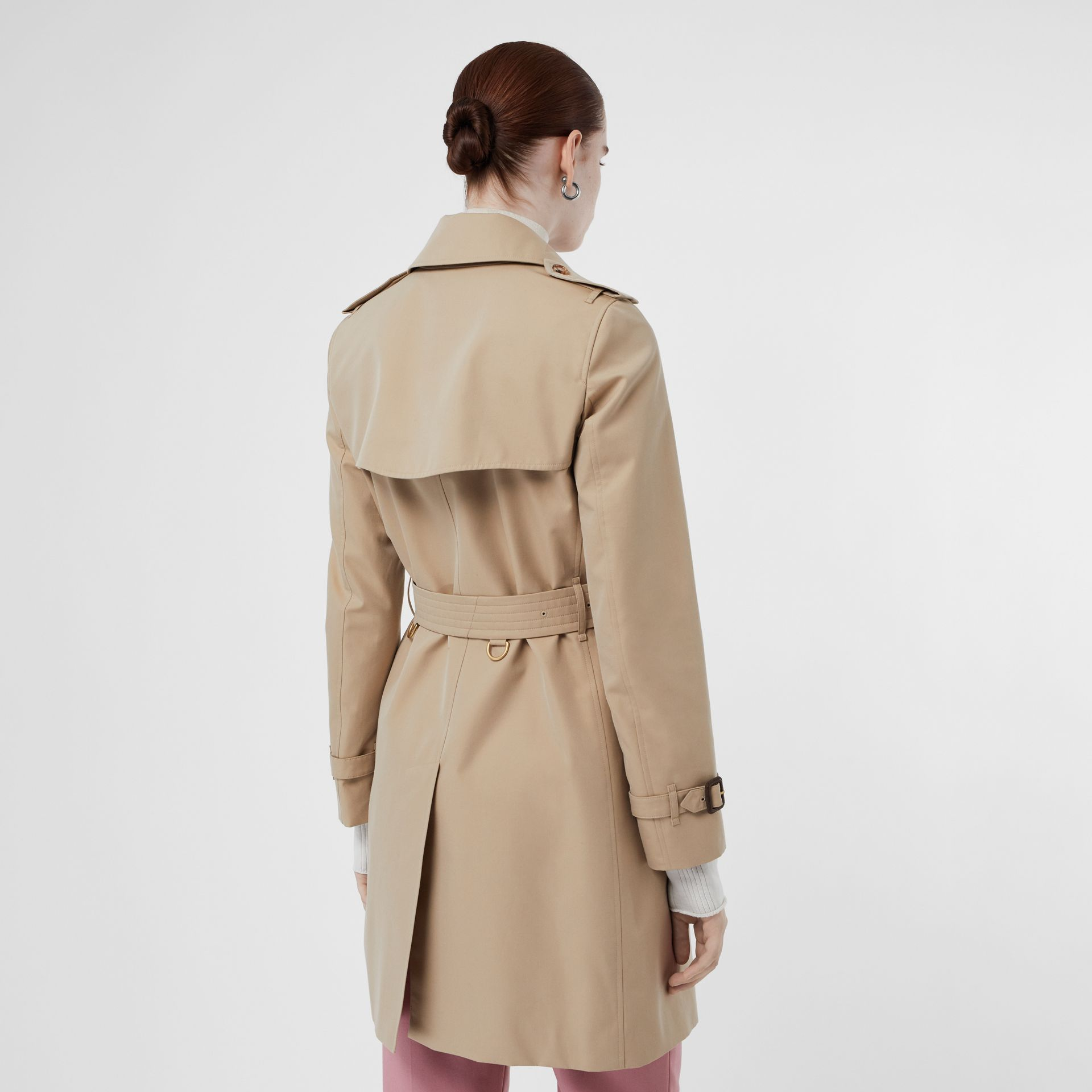 Cotton Gabardine Trench Coat in Honey - Women | Burberry Singapore - gallery image 2