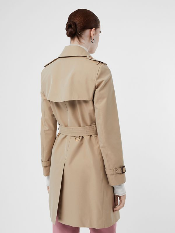 Cotton Gabardine Trench Coat in Honey - Women | Burberry Singapore - cell image 2