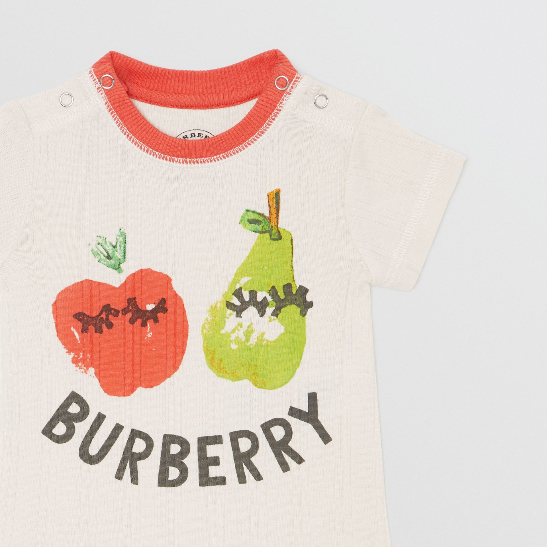 Fruit and Flower Print Three-piece Baby Gift Set in Stone - Children | Burberry - gallery image 5