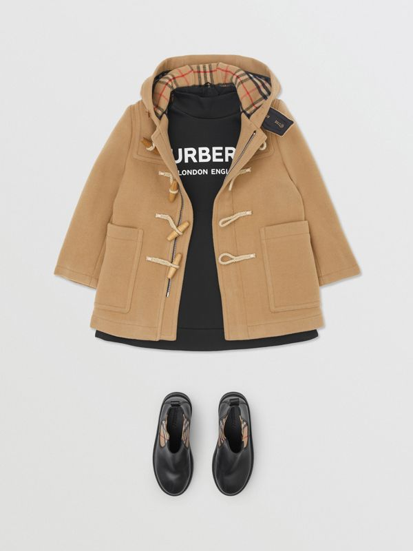 Boiled Wool Duffle Coat in Archive Beige | Burberry Canada - cell image 2