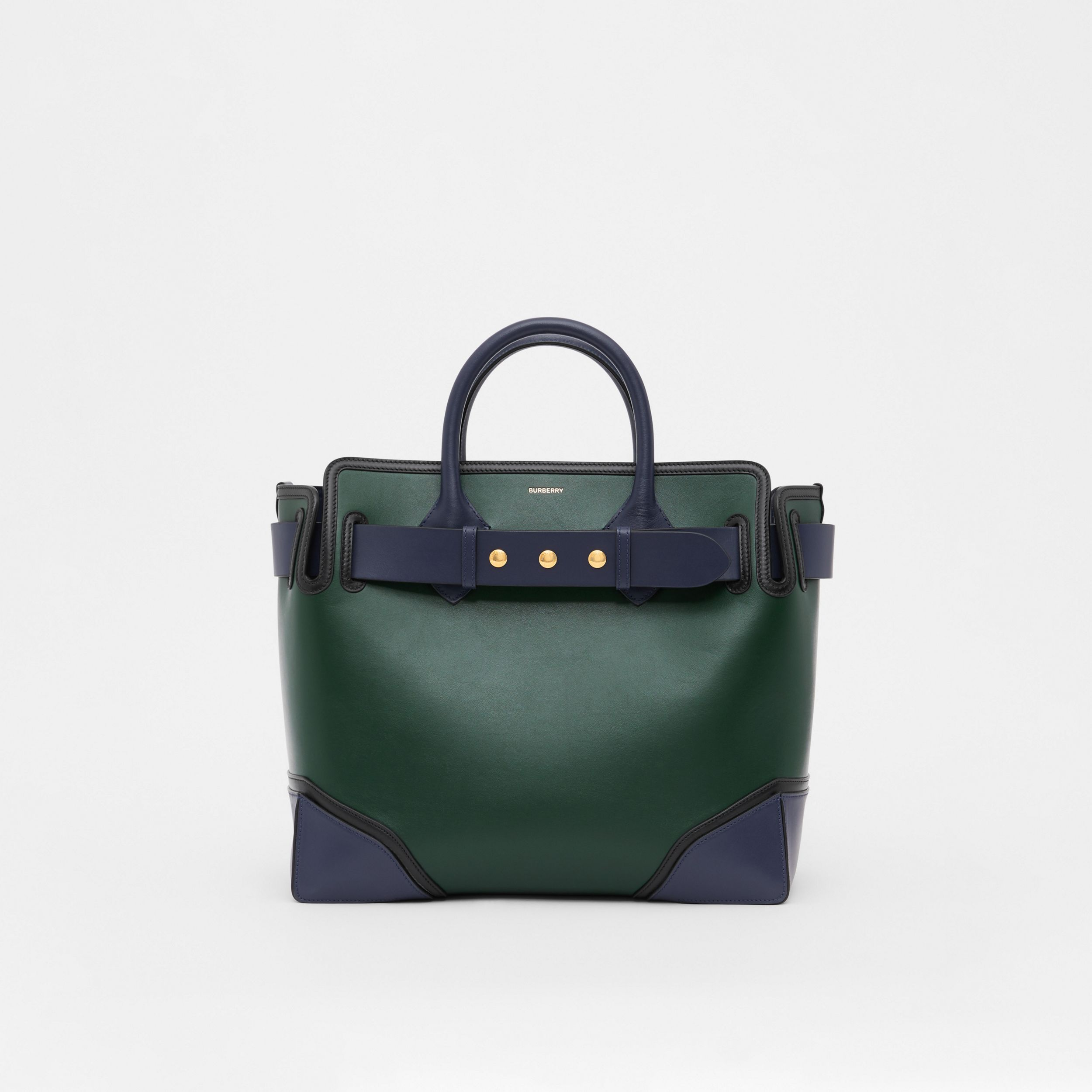 The Medium Leather Triple Stud Belt Bag in Dark Pine Green - Women | Burberry - 1