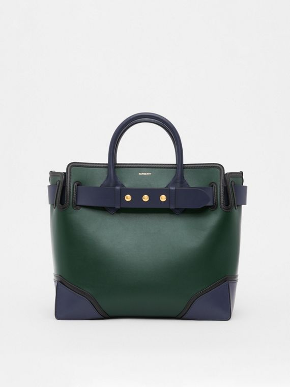The Medium Leather Triple Stud Belt Bag in Dark Pine Green