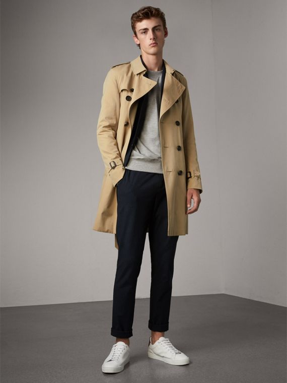 The Sandringham – Long Heritage Trench Coat in Honey