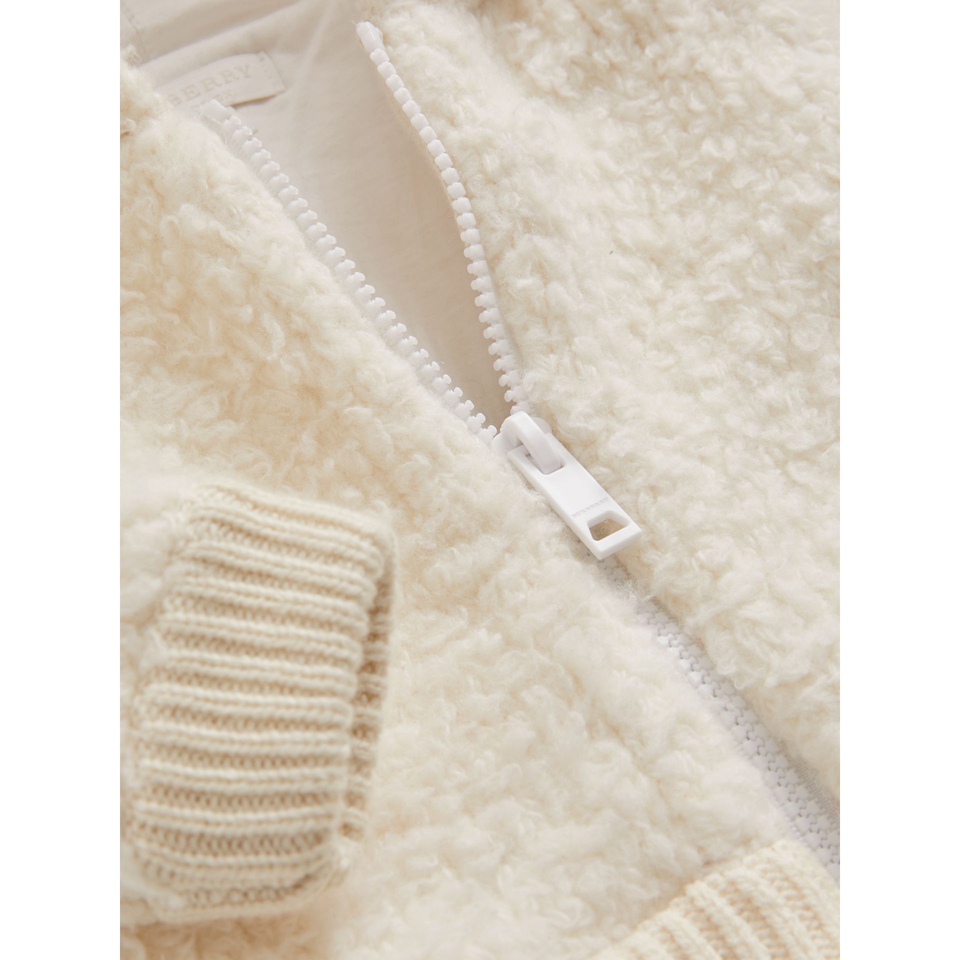 Wool Blend Hooded Top in Ivory - Children | Burberry - gallery image 1