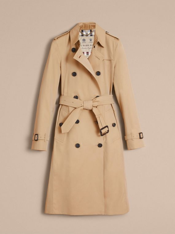 The Kensington – Extra-long Heritage Trench Coat in Honey - Women | Burberry Singapore - cell image 3