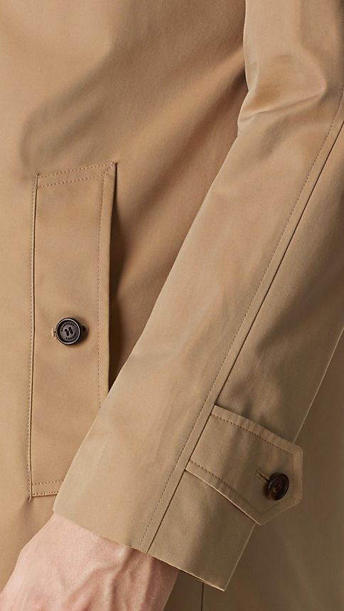 Honey Cotton Gabardine Car Coat - Image 4