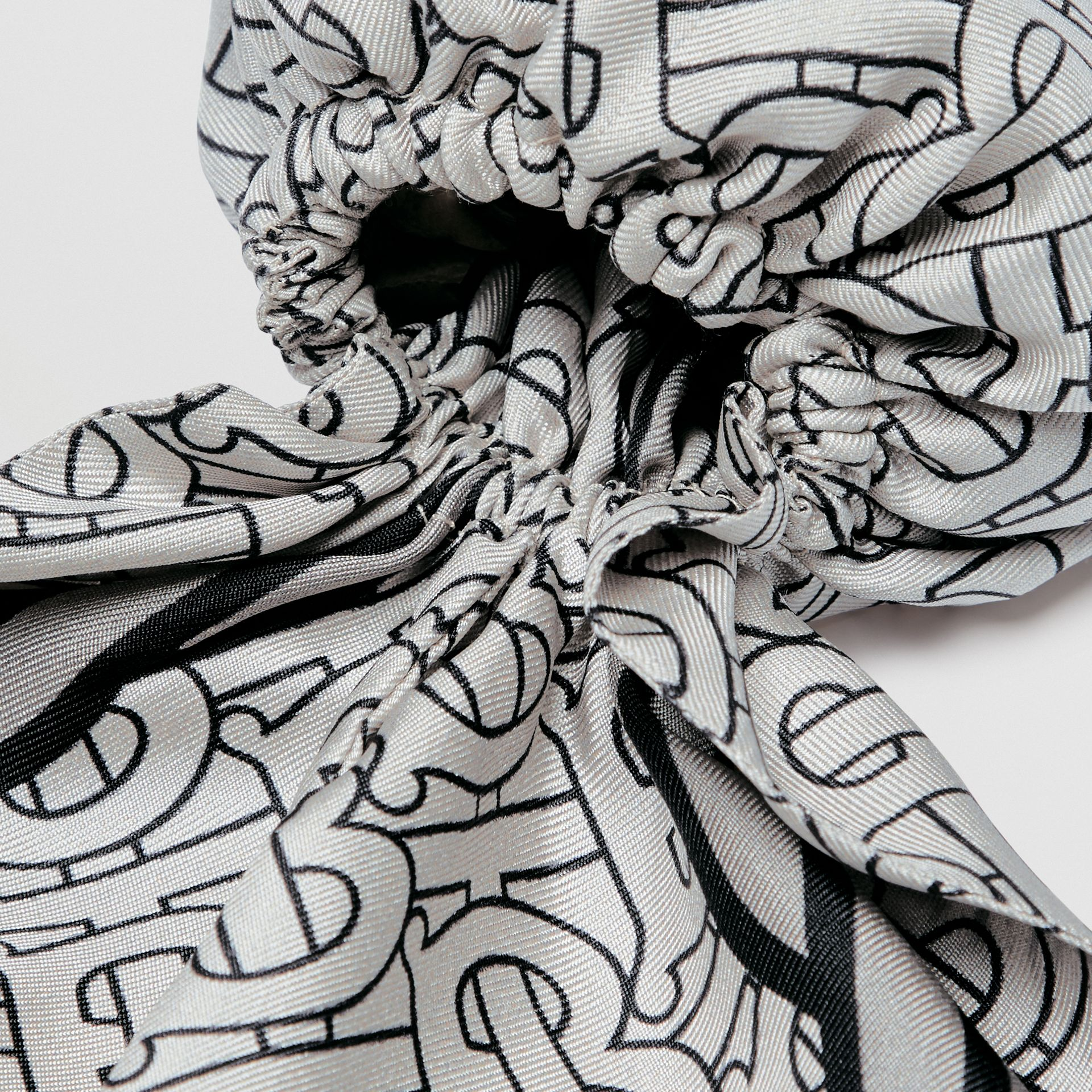 Unicorn Print Silk Hair Scarf in Multicolour - Women | Burberry - gallery image 1