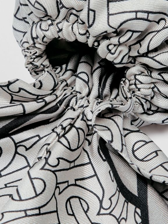 Unicorn Print Silk Hair Scarf in Multicolour - Women | Burberry Singapore - cell image 1