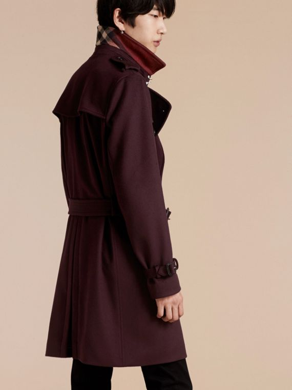 Cashmere Trench Coat Plum - cell image 2