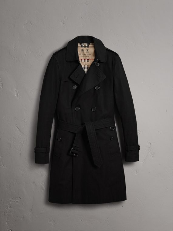 The Sandringham - Trench coat Heritage longo (Preto) - Homens | Burberry - cell image 3