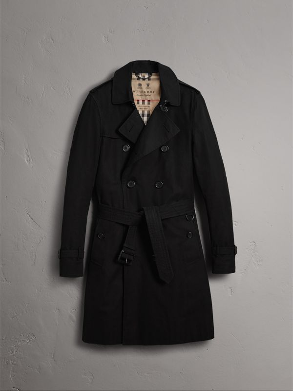 The Sandringham – Long Trench Coat in Black - Men | Burberry Singapore - cell image 3
