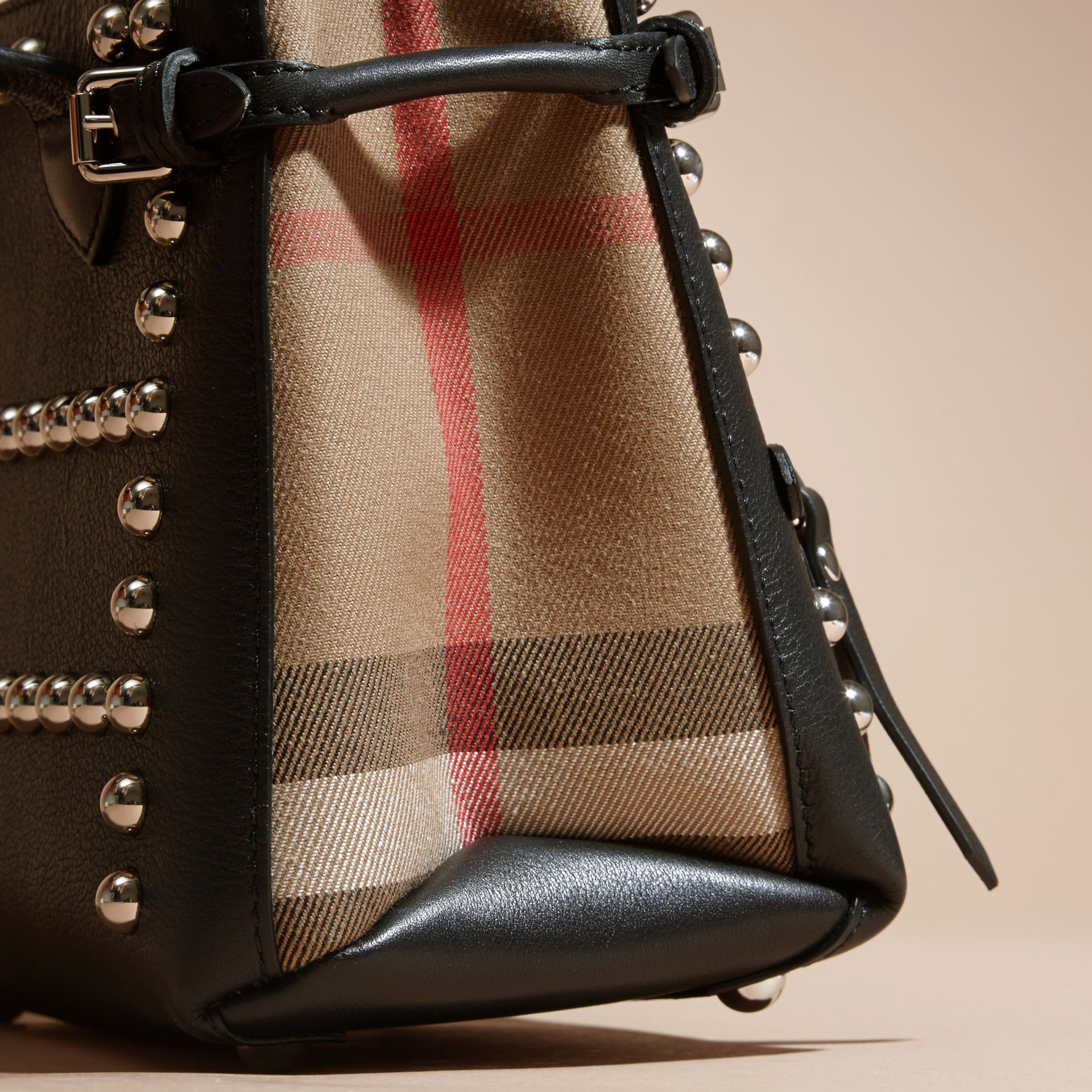The Baby Banner in Studded Leather and House Check - gallery image 2
