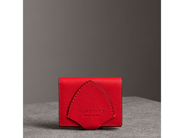Equestrian Shield Two-tone Leather Folding Wallet in Bright Red - Women | Burberry - cell image 4