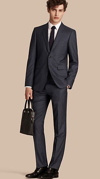 Modern Fit Wool Silk Half-canvas Suit