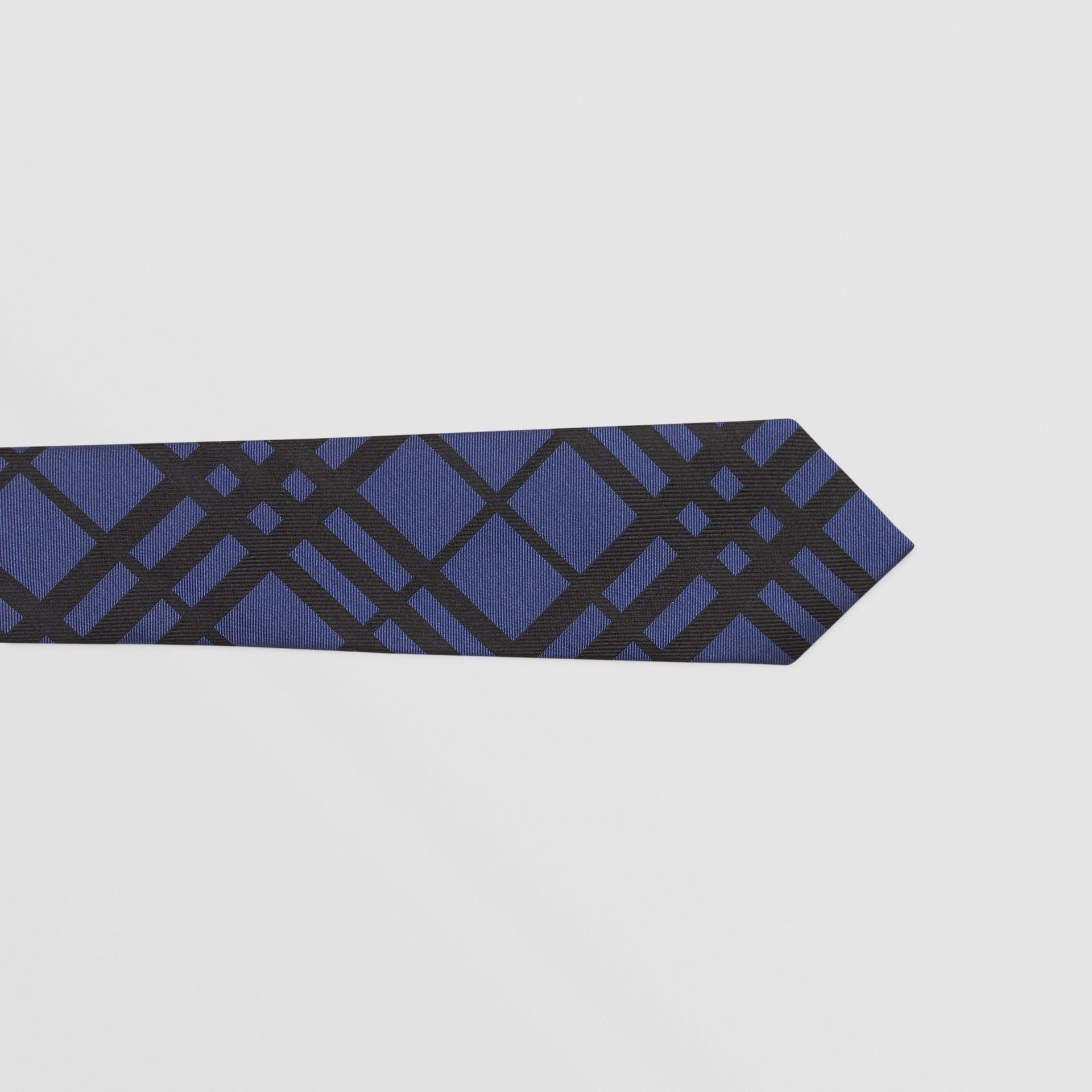 Classic Cut Check Silk Jacquard Tie in Canvas Blue - Men | Burberry Hong Kong S.A.R - gallery image 1
