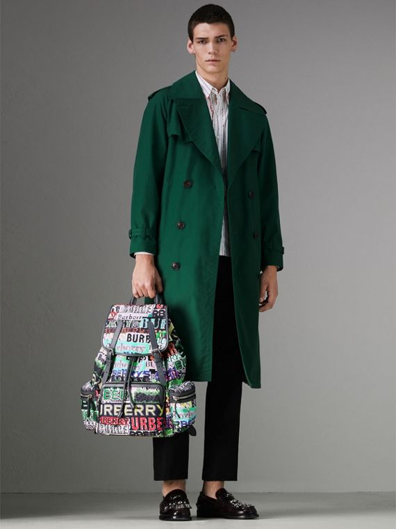 The Large Rucksack in Graffiti Logo Print in Multicolour | Burberry - cell image 3